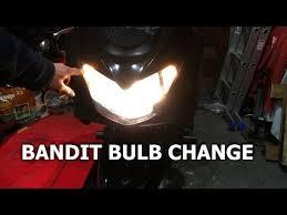 GSF 650 Bandit Bulb <b>Change</b> Sidelights And Headlights - YouTube