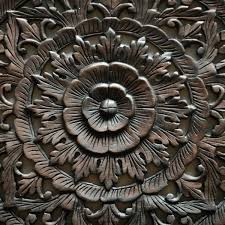 carved wall panel decorative wood carving wall panel lotus wood carved wall hanging traditional lotus carved