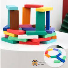 Đồ chơi trẻ em Domino - Đồ chơi xếp hình sáng tạo trẻ em an toàn bền nhẵn,  Trò chơi 100 thanh