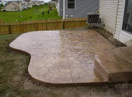 stamped concrete patio the concrete guys poured natural looking29 patio