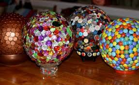 Decorated Bowling Balls Glossy garden art using bowling balls Flea Market Gardening 43