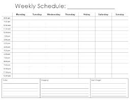 6 Week Work Schedule Template Work Schedule Template Excel Graceful Printable Weekly Employee 6 4