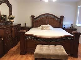 El Dorado bedroom set king size, 2 night tables, 1 armoire, 1 chest ...