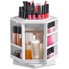 Beautify 360 Rotating Makeup Cosmetic Storage Organiser - White