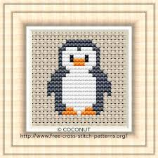 Easy Cross Stitch Patterns Stunning Penguin 48 Free And Easy Printable Cross Stitch Pattern Free