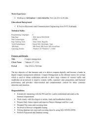Sample Manual Testing Resume