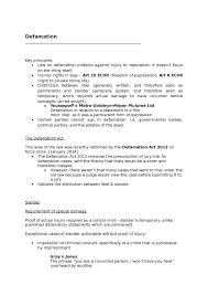 defamation oxbridge notes the united kingdom defamation notes