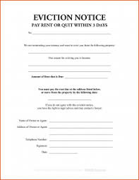 Sample Eviction Notice Template Business