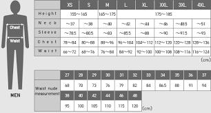 Uniqlo Clothing Size Chart Uniqlo Size Chart
