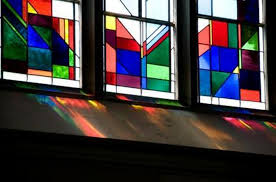 how to make faux stained glass windows