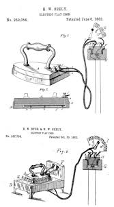 early electric irons self heating flat irons sad irons irons wired up to electricity diagrams