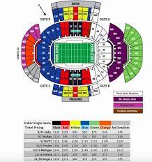 Beaver Stadium Club Level Seating Chart State College Pa Penn State Football Michigan Ticket