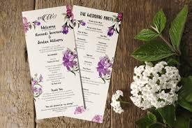 Wedding Program Designs 21 Wedding Program Templates Free Sample Example Format