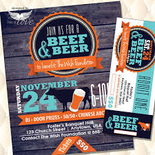 Beef And Beer Flyer Fund Raising Event Flyer Fundraising