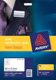 avery nametag avery silver fabric name badge labels l7418 15