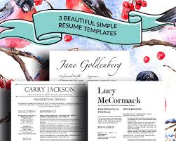 3 Stylish Resume Templates With Matching Cover Letters For