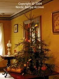 19th century style Christmas tree