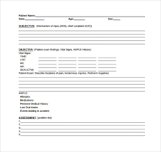 Free 8 Sample Soap Note Templates In Word Pdf