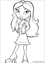 Small Picture 153 best Coloriages Bratz images on Pinterest Coloring books