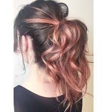 peachy rose gold pravana s hair by erinm hair juju hair lounge vancouver bc canada jujuhairlounge