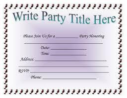 Class Party Invitation Microsoft Word Invitation Templates Free New Class Party Invitation