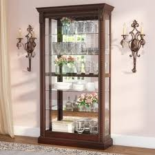 curved glass curio cabinet.  Cabinet Quickview Throughout Curved Glass Curio Cabinet