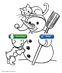 Small Picture Adult dogs and cats coloring pages Dog And Cat Christmas Coloring