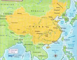 حدود الصين خريطة - خريطة الصين الحدودية (شرق آسيا - آسيا)