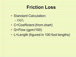 Fire Department Friction Loss Chart Hydraulic Calculations Ppt Video Online Download