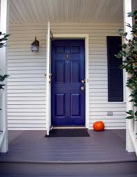 blue front doorGlitter and Goat Cheese  Midnight Blue Painted Front Door