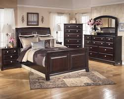 Modern Sleigh Bedroom Sets 4 Piece Sleigh Bedroom Set In Dark Brown