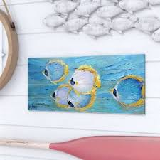 fish school drawing print on wood on turquoise wood and metal wall art with metal school of fish wall art wayfair