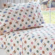 cool cotton percale sheets summer camp sheet set duvet cover 2gx4sb6scw lg fish