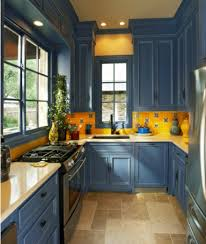 ... Madlonsbigbearcom Sensational Design Blue And Yellow Country Kitchen 12 Blue  Kitchen Michael Lyons Architect ...