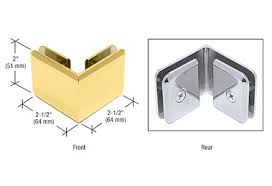 crl beveled 90 degree glass to glass clamps