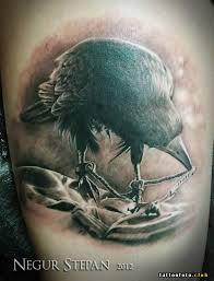 фото тату ворон на черепе клуб татуировки фото тату значения эскизы