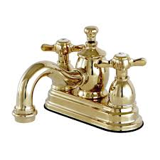 Brass Bathroom Faucet Kingston Brass French Cross 4 In Centerset 2 Handle Mid Arc