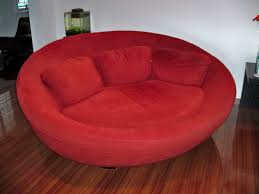Round Sofa Chair Living Room Furniture Large Red Cellini Ufo Sofa Oval Round Cloth Couch Loveseat Chair