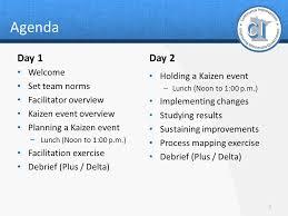 Plus Delta Organization Chart Kaizen Facilitator Training Ppt Download