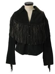 1980 s casa mercado fashions womens totally 80s suede fringed leather jacket 88 00 in stock item no 231050
