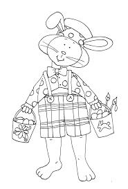 Bunny Crafts Easter Printables Digital Stamps