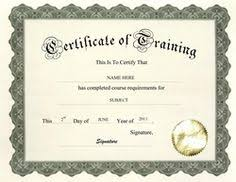 Free Certificate Templates For Word Blank Training Certificate Template Free Training Certificate