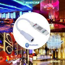 Dây Đèn Led Mini Chuyển Đổi Âm Thanh 5050 3528 Sang 4pin Dc 5-24v Kết Nối  Bluetooth Thông Minh - Đèn pin