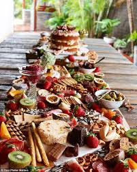 Wedding Food Tables Sumptuous Platters That Are Metres Long Are Latest Wedding Food