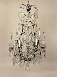 baccarat crystal chandeliers late century silvered bronze and baccarat crystal twelve light chandelier antique crystal chandeliers