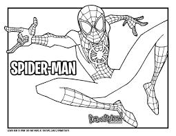 Interesante prólogo que sienta las bases del nuevo evento arácnido destinado a recuperar a los héroes arácnidos de todas las realidades. Miles Morales Coloring Pages Free Printable New Spider Man