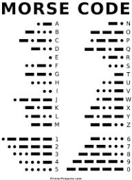 Morse Code Letter Chart Morse Code Alphabet Chart For Kids 25 Best Ideas About