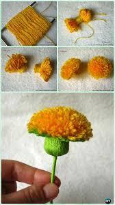 diy yarn dandelion instruction yarn crafts no crochet
