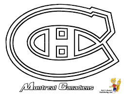 16 Montreal Canadiens Hockey At Coloring Pages Book For Kids Boys