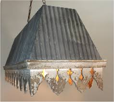 galvanized lighting fixtures. Galvanized Tin Roof Chandelier With Rust Ribbed Antique Style Building Parts Lighting Fixtures
